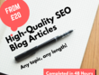 Write a high-quality SEO blog post or article on any topic