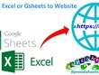 Do excel spreadsheets or google sheets web integration