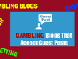 Post 100 PBN Blog posts Gambling / Casino website Accepted