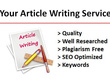 Research and write an article, blog post or web content