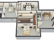 Create high quality and detailed 3D floor plan rendering