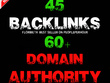 45 Backlinks from High DA-60+ Domains-Skyrocket your Google RANK