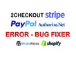 Fix 2checkout or Stripe payment system error on your website