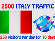 Drive 250 Italy Traffic Per Day For 10 Days