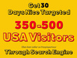 Provide ORGANIC USA NICHE TARGETED FOR 30 DAYS ** LIMITED TIME**