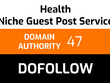 Write and publish 1 health guest post
