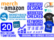 Do Best Selling 100 Merch By Amazon T shirt Designs