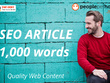 ★ Research & Write High Quality SEO article | 1,000 words ★