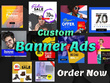 Make two attractive  banners,web banners ,headers for you