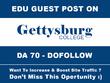 Do High Quality Guest Post on Gettysburg.edu DA 70