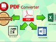 Convert from PDF/images into MS Word/EXCEL without 0% erorr.