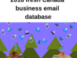 2018 fresh Canada 2,00,000 business email database