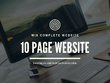 Design A 10 Page Bespoke WIX Website For Your Business