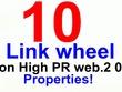 Create a link wheel from High PR Web 2.0 Properties
