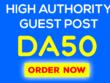 Guest Posting On DA 50 Niche Blog