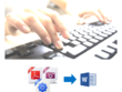 Type up to 30 pages of PDF, scanned documents or images to Word