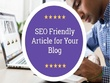 Write SEO friendly Article on any Topic