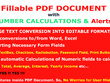 Create 1 Page Fillable PDF doc with Automatic Number Calculation