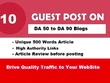 10 Guest Posts Links on REAL DA30-80 Websites -NO PBN - Dofollow