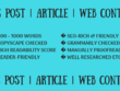 Write SEO-friendly blogs, articles, web content (800-1000 words)