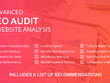 Provide an advanced SEO audit of a website with actionable tasks