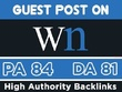 Write and Publish your Guest post on WN.com or .com