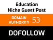 Write and publish 1 education guest post