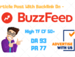 Publish guest post on BuzzFeed with dofollow backlink