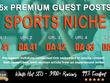 5X High DA 40+ Guest Post *Sports Niche* Blogger Outreach