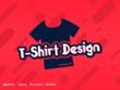 Design a eye catching custom T-Shirt