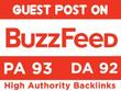 Write and Publish Guest Post on Buzzfeed - Buzzfeed.com DA:92