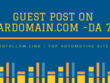 Do Guest Post on Car Domain.com-DOFOLLOW LINK-DA 77