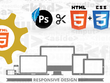 Convert PSD/sketch to the responsive HTML/CSS