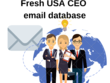 Fresh USA CEO 25,00,000 email database