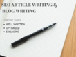 Write 1000 word high-quality SEO content to rank your website in