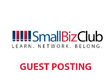 Publish a guest post on Small Biz Club