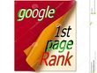 Google 1st page ranking your website