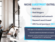 Outreach, Find & Email to 30+ Guest Post Bloggers in your Niche