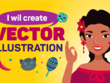 Draw Awesome Flat Vector Illustration