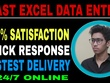 Fast Excel Data entry work and other Data entry and pdf work
