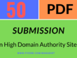 Manually submit your pdf to top 50 document submission sites