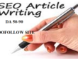 Write And Publish High Authority Guest Post On 10x Dofollow Site