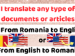 Translate from English to Romanian or Romanian to English