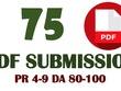 Do Pdf Submission On Top 75 Document Sharing Sites