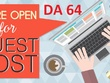 Write And Publish guest post On a DA 64 blog Dofollow link