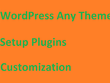 WordPress Any Theme Install,Setup Plugin &Customize Within A Day