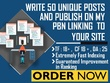 Write 50 Unique Posts on PBN Linking to your Site TF 18
