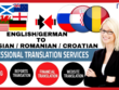 Translate German/English to Russian, Croatian (1000 Words)