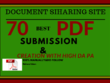 Do 70 PDF Submission Document Sharing Sites