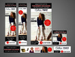 Design a banner ad set (8 sizes)
